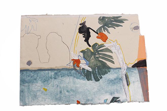 Federica Giulianini - 1964, tecnica mista su carta, cm. 25x36