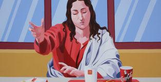 Giuseppe Veneziano - Mc Emmaus, 2010, acrilico su tela, cm 110x140