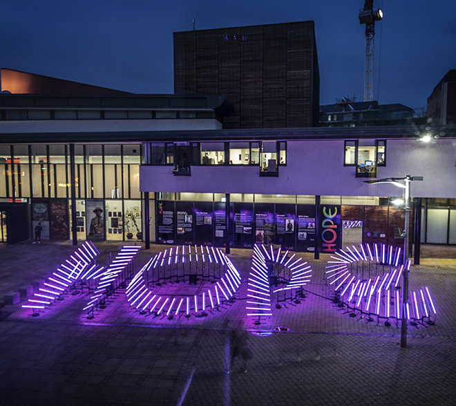HOPE by Aether & Hemera. Location: Millennium Place, Durham. Photo Credit: Lee Dobson