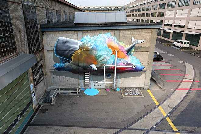 NEVERCREW - Interpretive machine n°1 - Winterthur Urban Art Festival (CH) - 2014