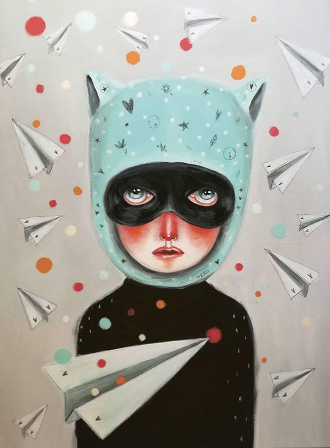 Silvia Pavarini - Hero, acrilico su tela, cm. 60x50