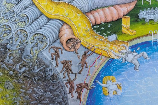 Blu – Cápita, murale a Rebibbia