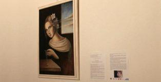 """Federica Orsini - META FISICA: luce, materia e donna. Installation view, Sala """"Ex Chiesa del Convento del Ritiro"""", Siracusa."""