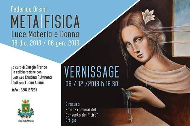Federica Orsini - META FISICA: luce, materia e donna. Installation view, Sala