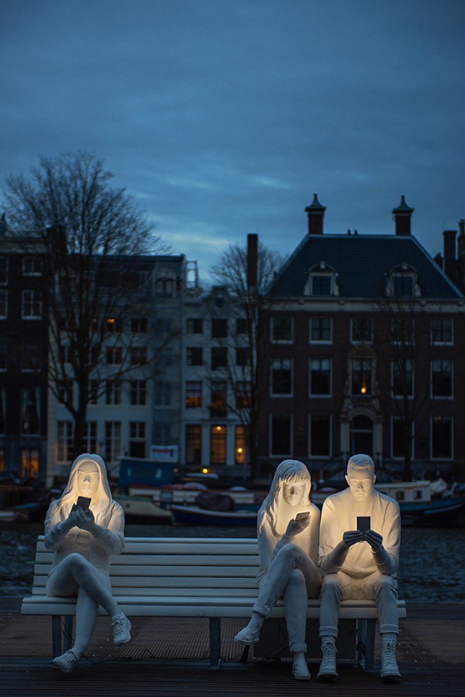 Gali May Lucas - Absorbed by Light, Amsterdam light Festival, 2018. photo credit & courtesy of: Design Bridge.