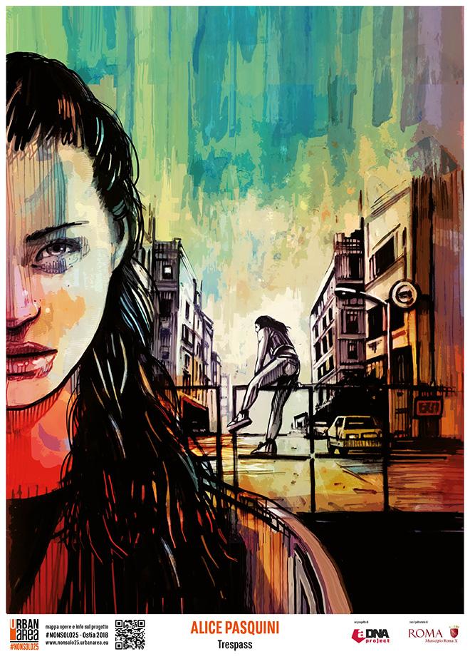 Alice Pasquini- URBAN AREA #nonsolo25 - Ostia 2018