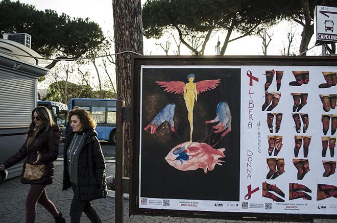 Marta Paolucci (Liceo Labriola), Gaia Nasta (ITCG Toscanelli) - URBAN AREA #nonsolo25 - Ostia 2018. photo credit: aDNA collective.
