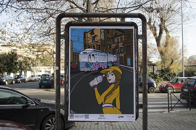 Nina - URBAN AREA #nonsolo25 - Ostia 2018. photo credit: aDNA collective
