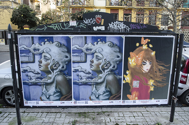 Yasmine Elgamal (sinistra), Sara Maranella (IC Carlo Urbani) (destra) - URBAN AREA #nonsolo25 - Ostia 2018. photo credit: aDNA collective