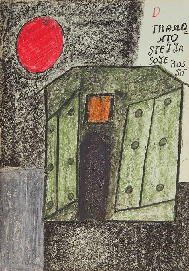 Alessandra Michelangelo - Senza Titolo, matite e pastelli a olio su carta, cm. 50x35