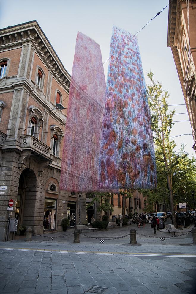 Giorgio Bevignani - EosEco, installazione site-specific,  Palazzo Zambeccari, Bologna