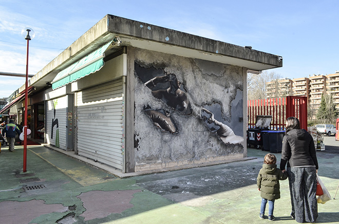 Luis Gomez de Theran - Street Frames, Mercato Rionale Casal de'Pazzi (via Locke), Roma