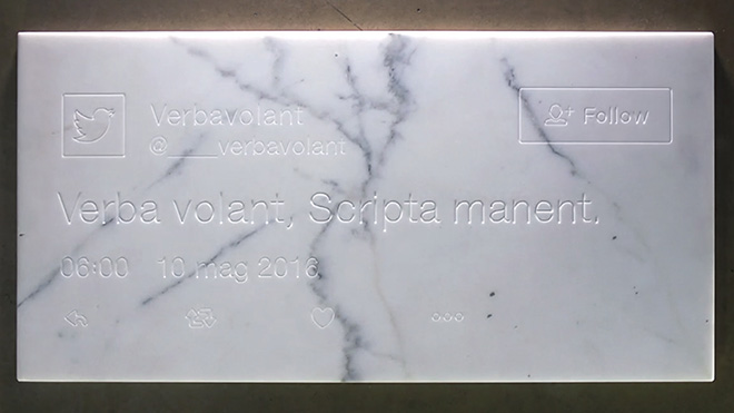Guido Segni - Verba volant, scripta manent, 2017