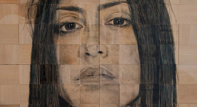 Mauro Maugliani - Noli me tangere (detail), 200x220 cm, 2015