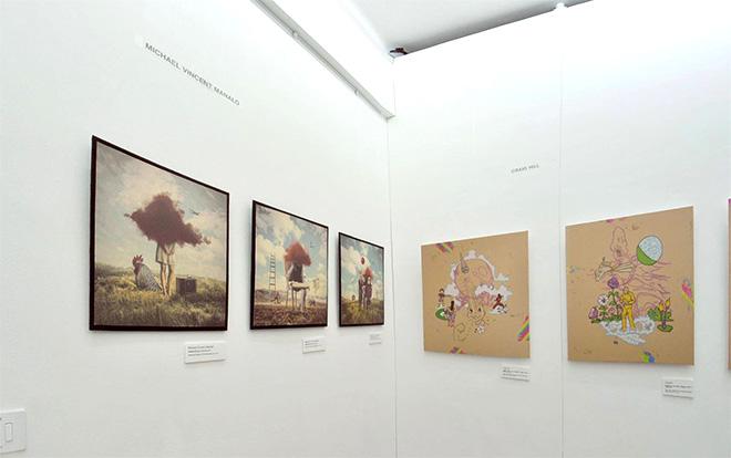 Michael Vincent Manalo + Craig Hill - Pop Surrealism exhibition, installation view, Lavagna (Italy)