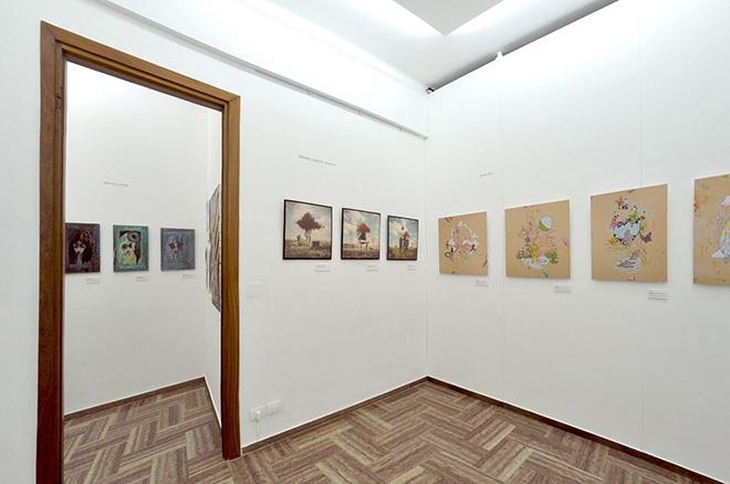 Michael Vincent Manalo + Craig Hill + Dead Dolls House - Pop Surrealism exhibition, installation view, Lavagna (Italy)