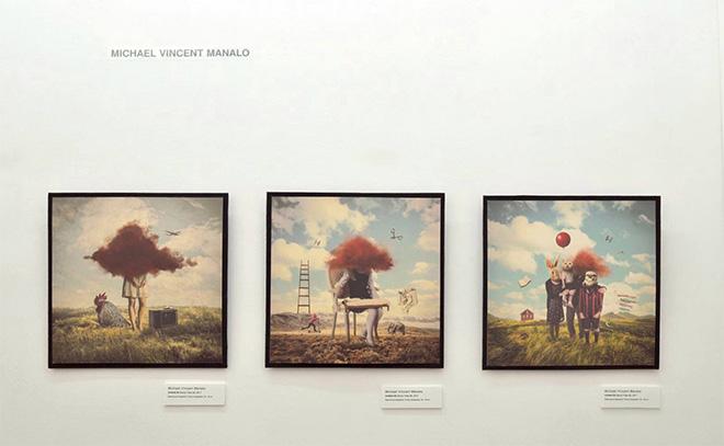 Michael Vincent Manalo - Pop Surrealism exhibition, installation view, Lavagna (Italy)