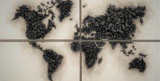Vito Bongiorno - Our Planet, carbone, 90x100 cm.