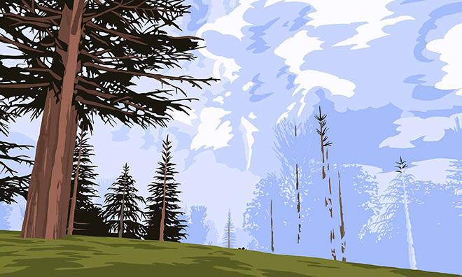 Mauro Ceolin - DeerHuntLandscapes, 2005|2006, acrilico su plexiglass, 45x37x3 cm, courtesy Collezione privata Monza