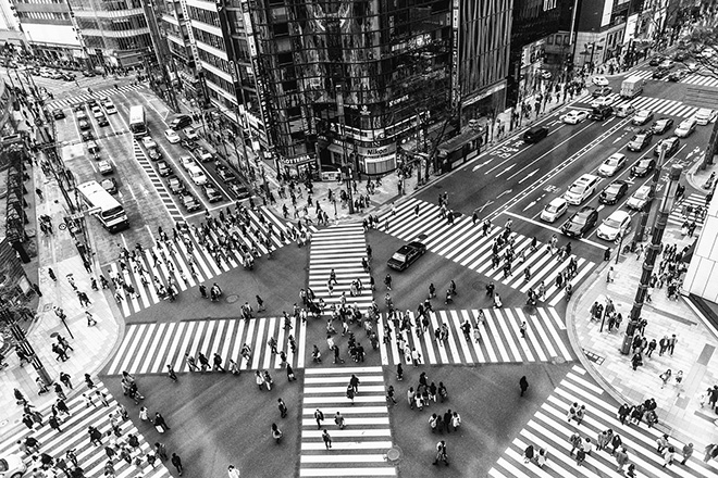 Daniele Stefanizzi (Italy) - Ginza Crossing, Architcture & Urban Geometries Category, URBAN 2018 Photo Awards