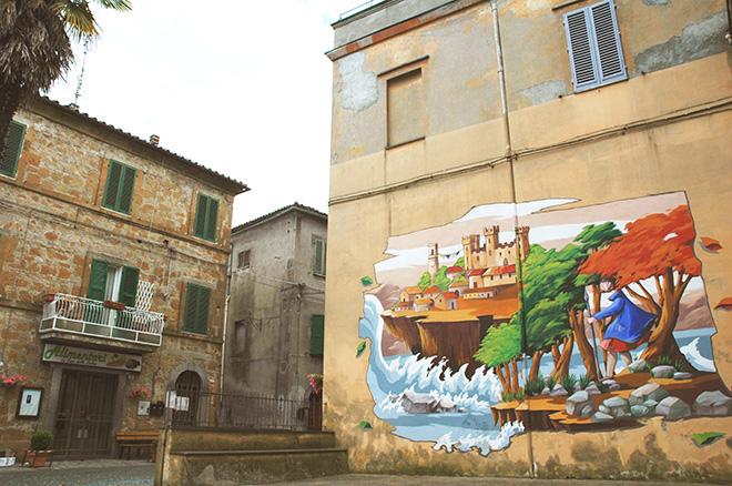 Alessandra Carloni - Mural for Urban Vision Festival, 2016, Acquapendente (VT), Italy