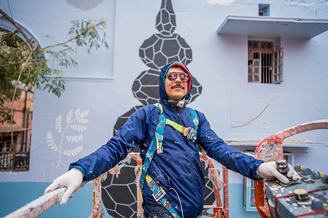 Andreco, Climate 05, Lodhi Art Fest New Delhi - photo credit: Pranav Gohil