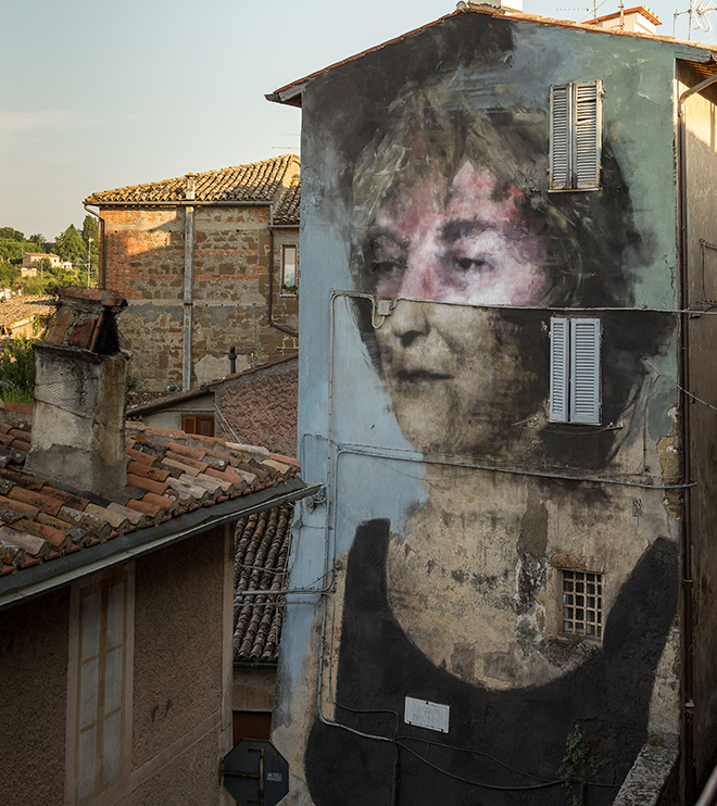Bosoletti - Mural for Urban Vision Festival, 2016, Acquapendente (VT), Italy. Photo credit: Massimiliano Merli
