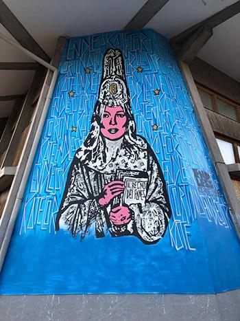 Endless - Il Regno dei Fanes, murale, Liceo Artistico Statale (Polo Val Boite), Cortina D'Ampezzo