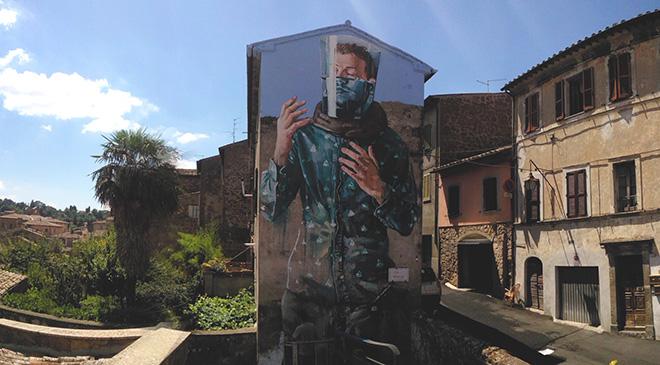 Fintan Magee - Mural for Urban Vision Festival, 2017, Acquapendente (VT), Italy