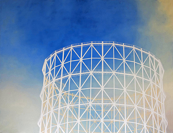 Juliette Pearce - Gazometro, 2017, Oil on canvas, 150 x 115 cm., Artrooms Fair Roma 2019
