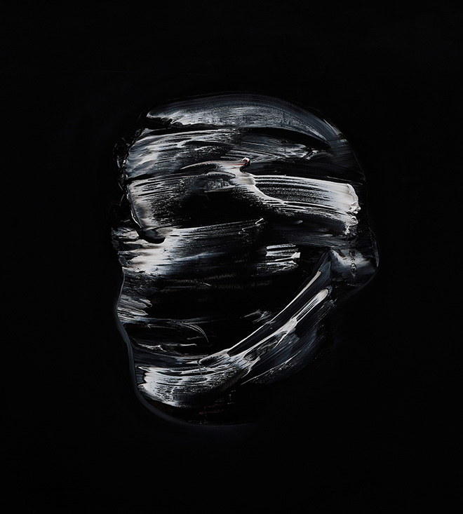 Lorenzo Puglisi - Il Grande Sacrificio, 2019, dettaglio, olio su tavola di pioppo, cm 205x605