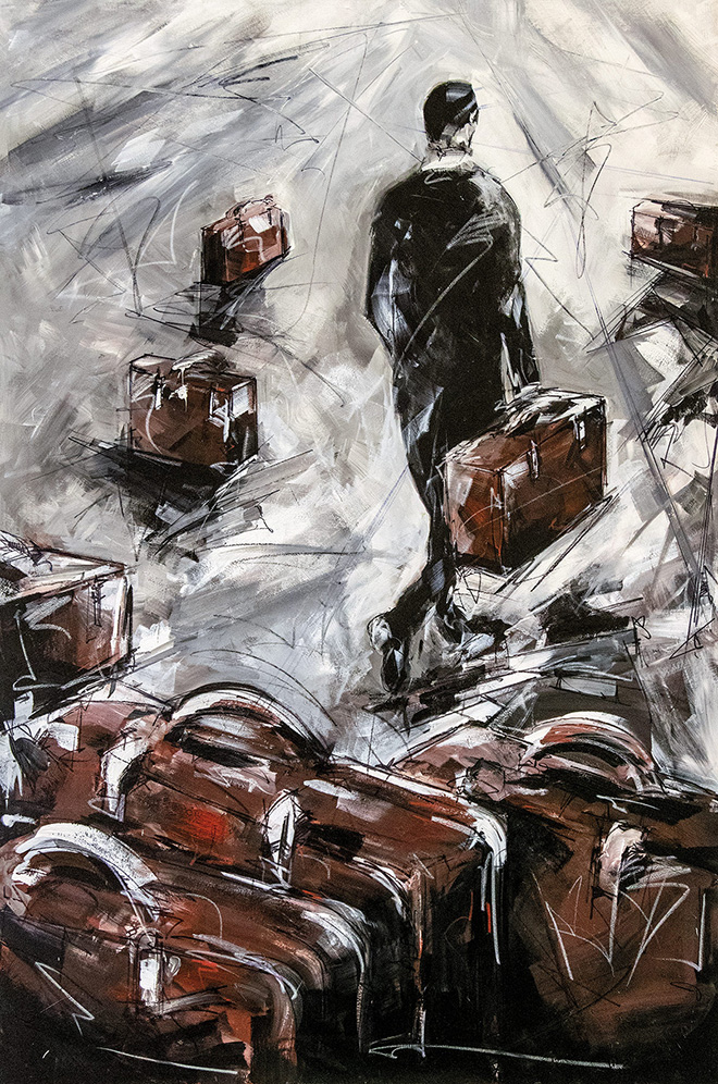 Marco Tamburro - Direzione Ottimista, Tela 100x150 cm. 2019