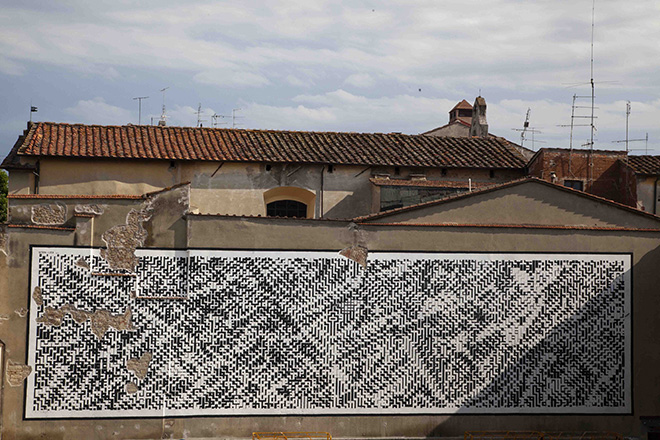 Sten Lex - Paesaggio Urbano III, Stencil Poster, Arezzo, 2015