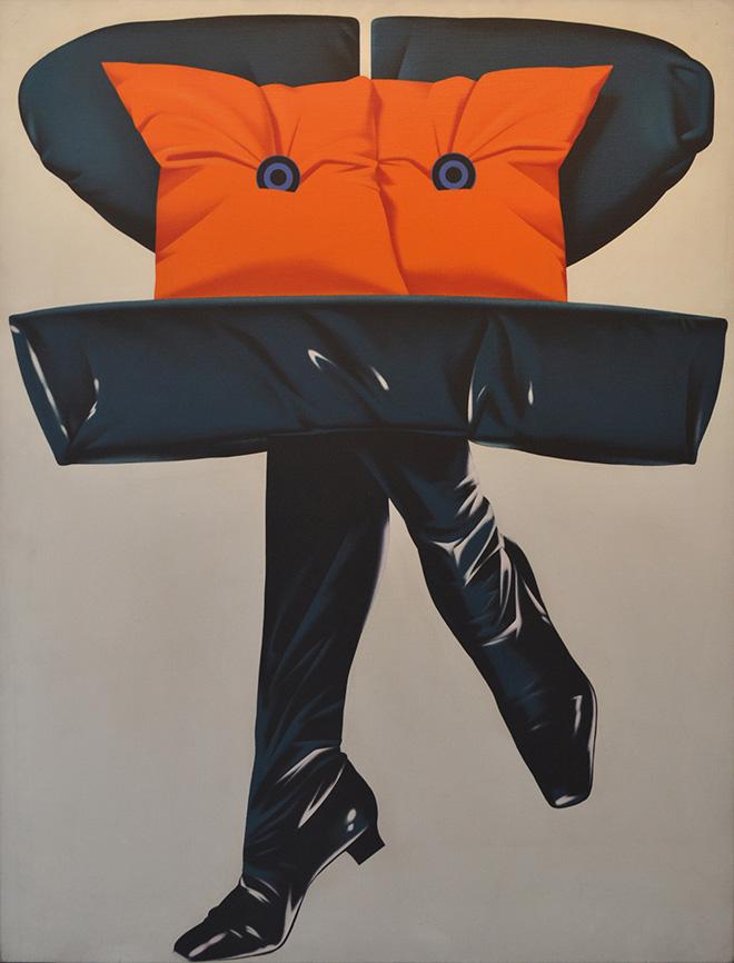 Umberto Mariani - Gli oggetti ci guardano e passano, 1970, olio su tela, cm 116x89. photo credit: Chiara Fasoli