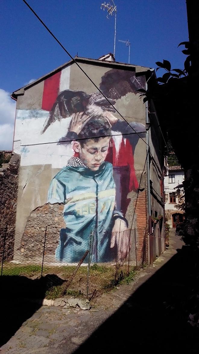 Helen Bur - Mural for Urban Vision Festival, 2018, Acquapendente (VT), Italy