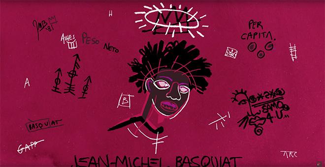Raccontare Basquiat in un'animazione