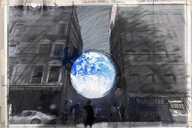 Sebastian Errazuriz - blu Marble, sketch