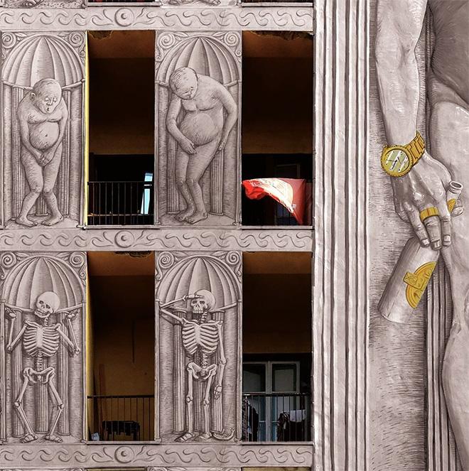 Blu - Roma: il nuovo murale al Quarticciolo