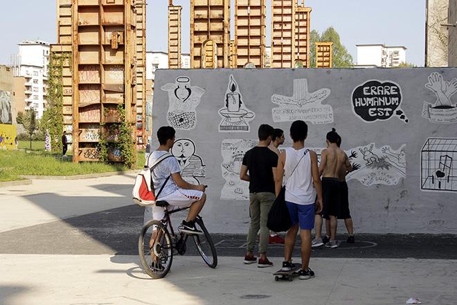 Guerrilla Spam - Affissione Poster, parco Dora, Torino, 2018