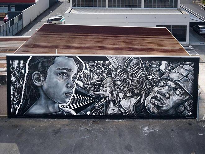 Paola Delfin - Kotahi/ Uno, Street Prints Manaia -  Whangarei-terenga-parāoa, Aotearoa. photo credit: @yoshi_travel