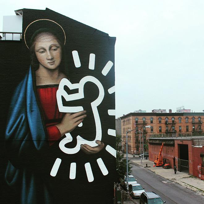 Owen Dippie - The Radiant Madonna, Brooklyn, New York. photo courtesy of: @thebushwickcollective