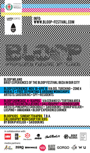 BLOOP Festival - Experience, Showcase, Milano
