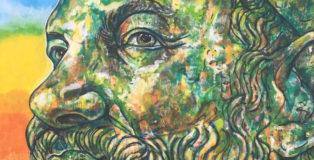 Carlos Atoche - Il Sogno del Guerriero, murale, Istituto comprensivo Riace Monasterace, Riace (RC)