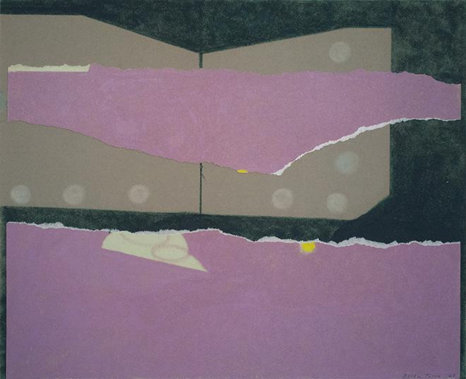 Enrico Della Torre - Primavera 3, 2009, pastello magro e collage su carta vellutata, 33 x 41 cm