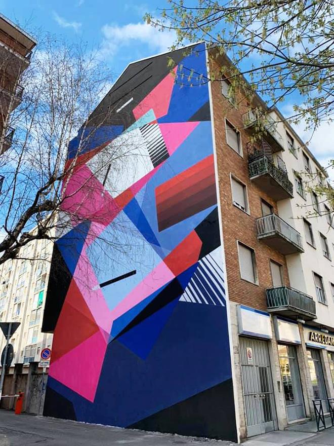 Greg Jager - STAGIONI, murale per Collegno SI-CURA, Torino, 2019. photo credit: Michele Pasero
