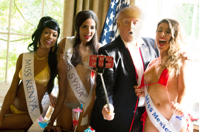 ALISON JACKSON - Trump Selfie with Miss Universe