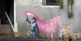 Banksy - Graffiti a Venezia. photo credit ©Lapo Simeoni (Artribune)