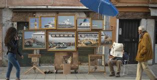 Banksy - Venezia: il pittore ambientalista e la critica alla Biennale