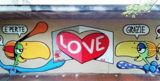 BOL (Pietro Maiozzi) - Spray su muro durante il festival READY2WRITE a CasteMadama (RM). 2018