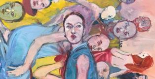 Carlos Quintana, Riflessione (detail), 2018. cm 182x150, olio su tela